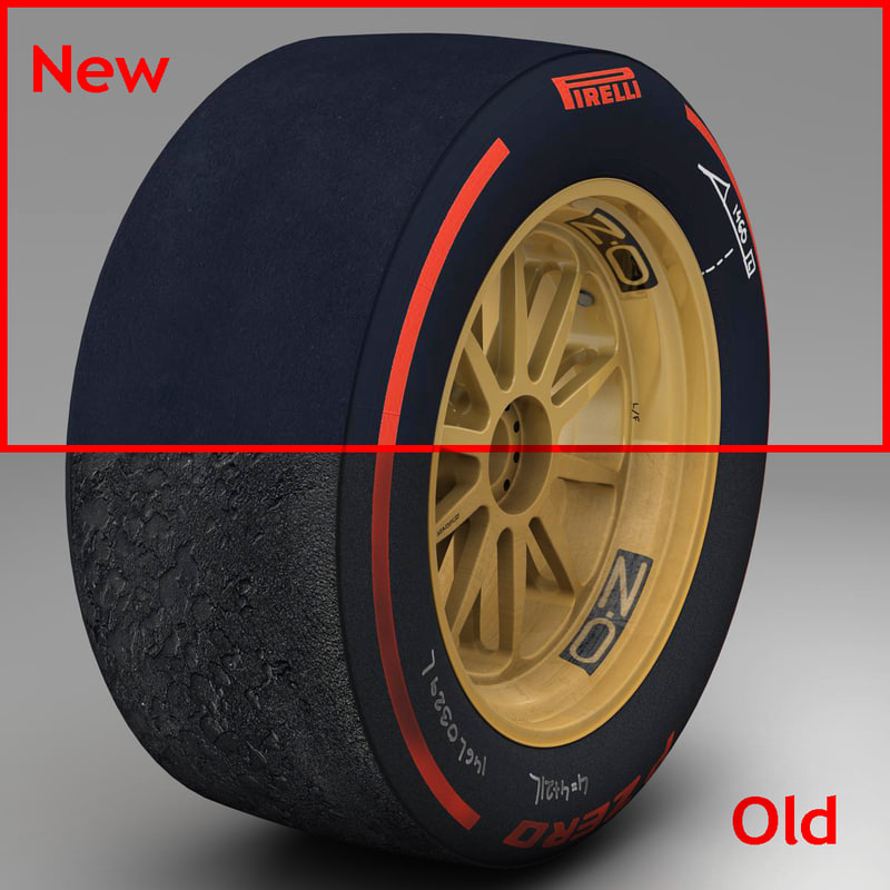 18 inches Supersoft front tyre