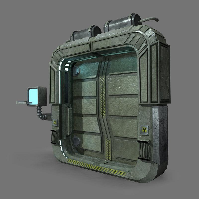 Sci fi door 3d model for Door 3d model