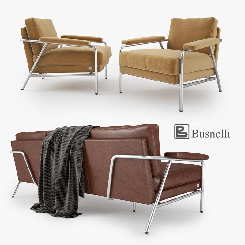 Busnelli Carpe Diem Sofa and Armchair