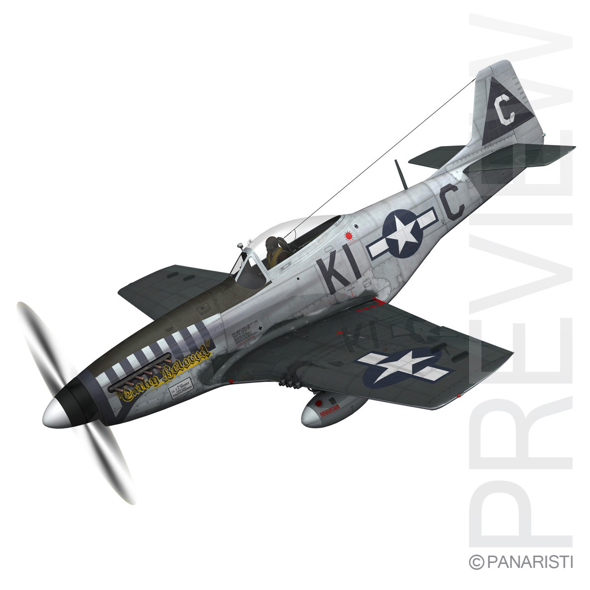 North American P-51D Mustang - Cathy Beloved