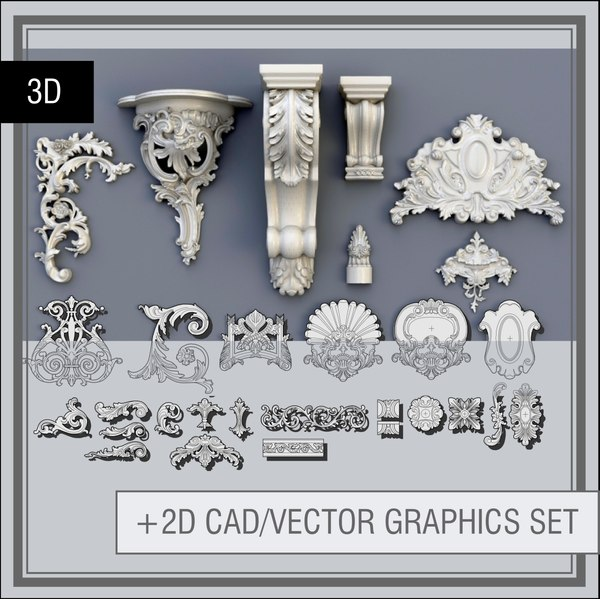 Swag_Ornaments_Collection (Pearlworks, Jumbo collection) 3D Models