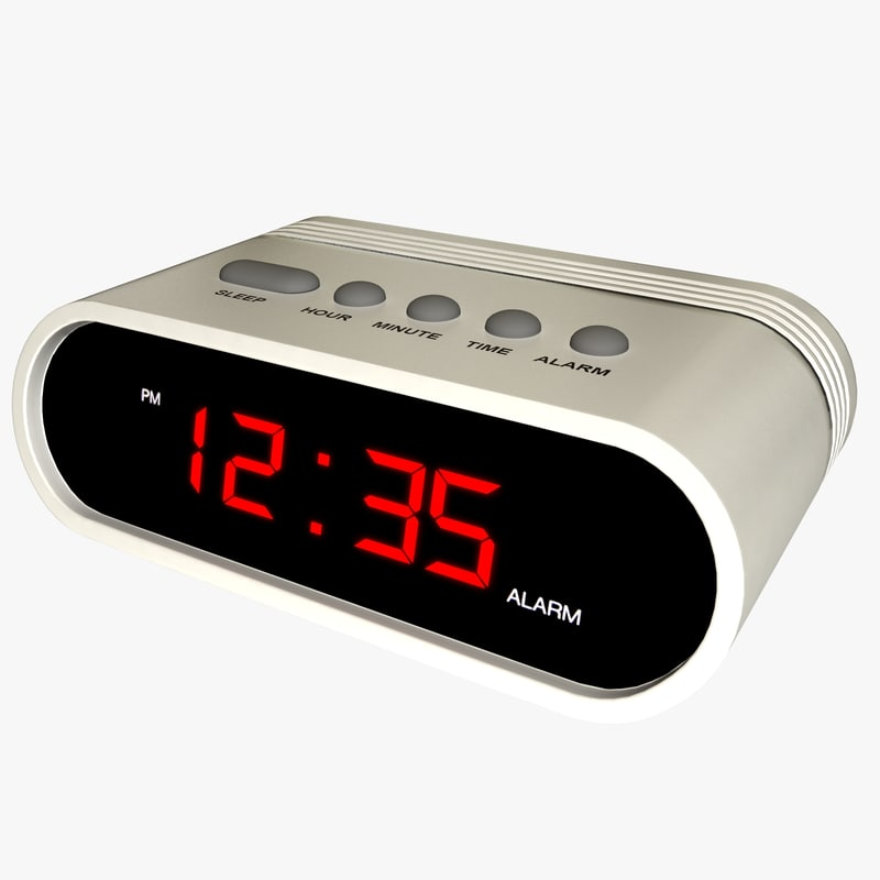 Generic Digital Alarm Clock 3d Model