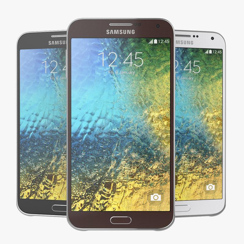Samsung Galaxy E7 Black, White andBrown