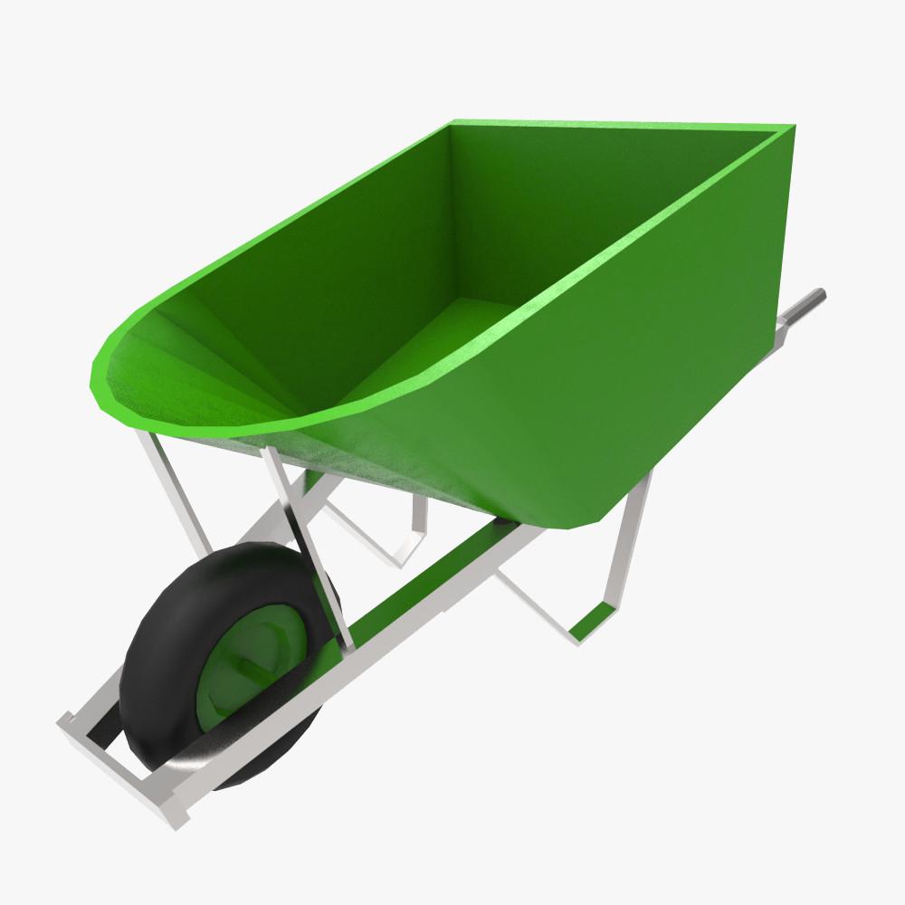 3d model wheel barrow