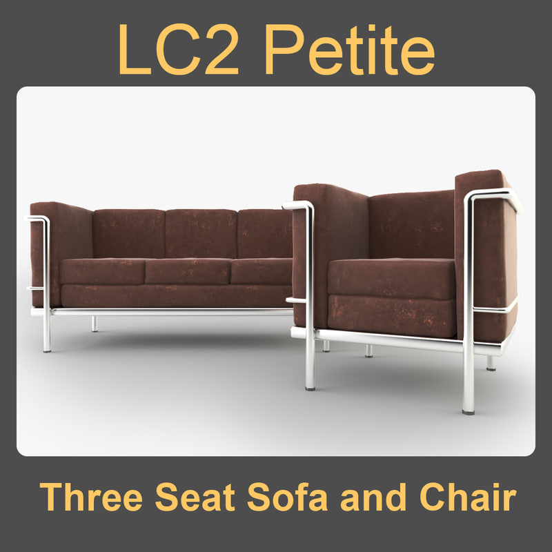 LC2 Petite Three Seat Sofa and Chair