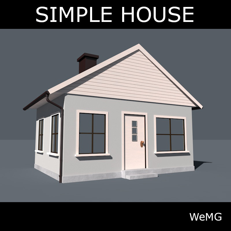 Simple house 3d model for Minimalist house 3d max