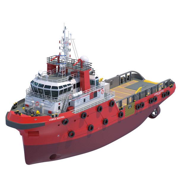 48m. AHTS Anchor Handling Tug 3D Models
