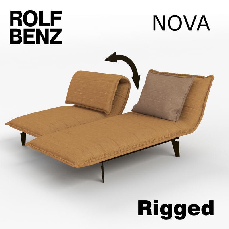 3d Model Sofa Nova Rolf