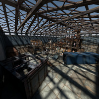 shooting range interior 3D models