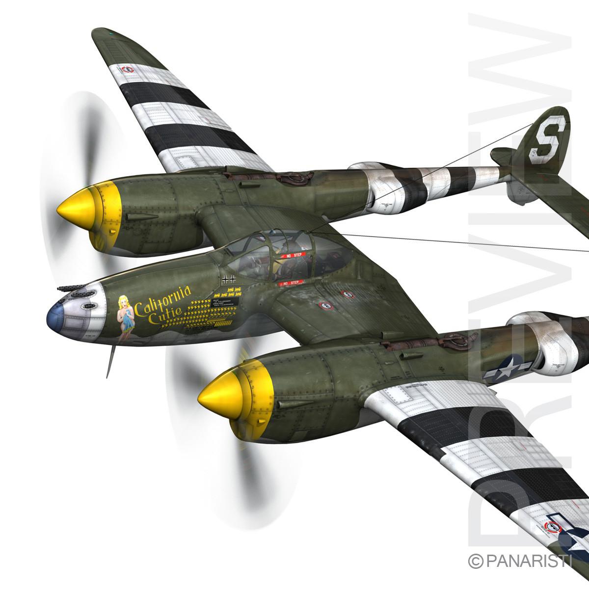 Lockheed P-38 Lightning - California Cutie