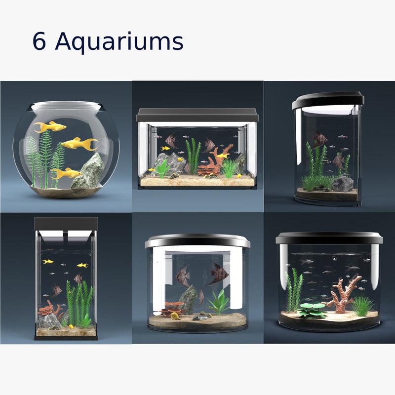 Aquarium Set ( 6 Equipped Aquariums)