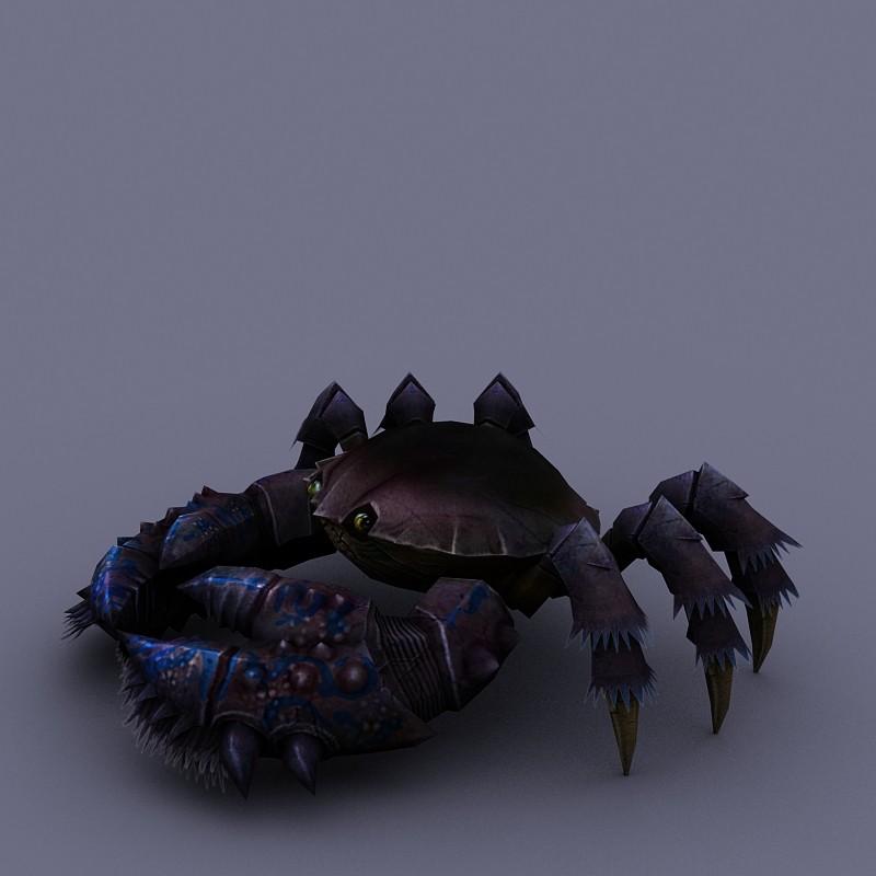 marine inhabitants crab cartoon