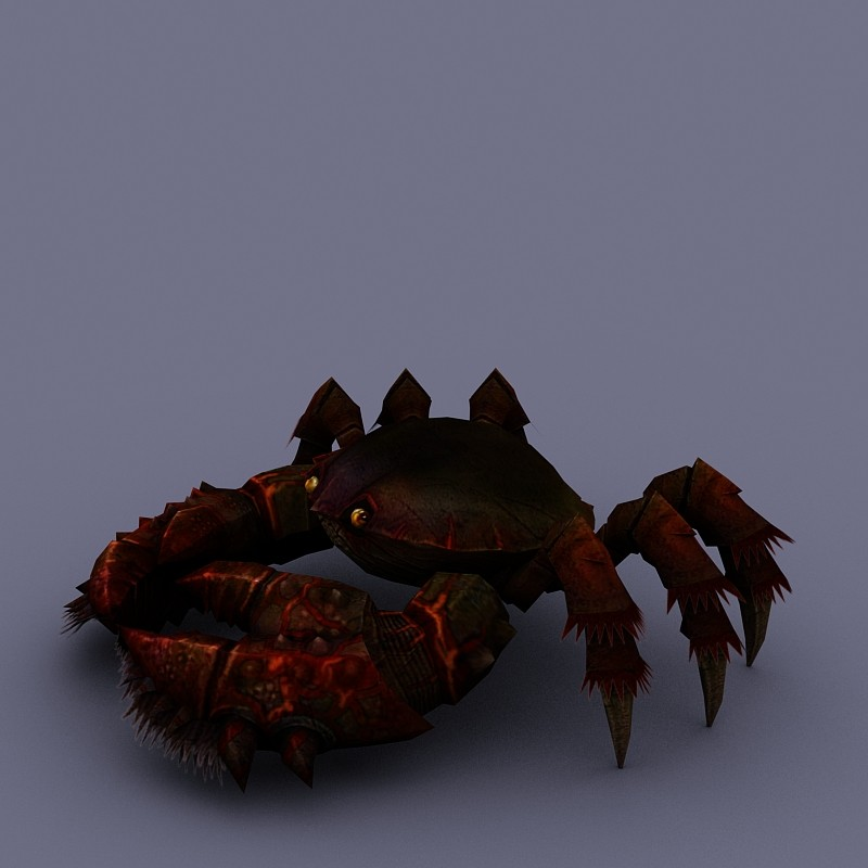 marine inhabitants crab cartoon 02