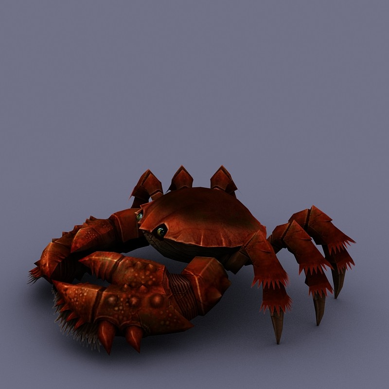 marine inhabitants crab cartoon 04