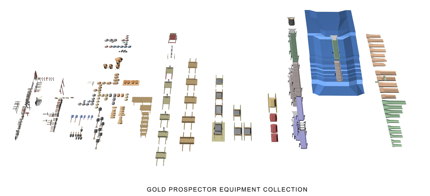 Gold Prospector Equipment Collection