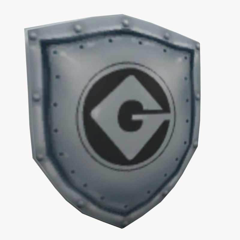 Minion shield with Gru logo