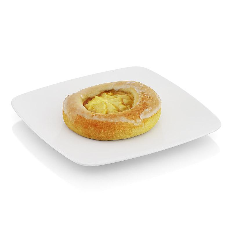 3d model roll pudding