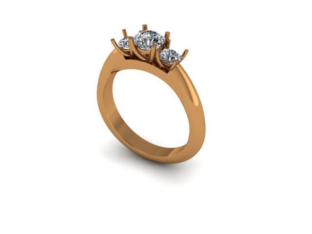 3stone ring 3dm