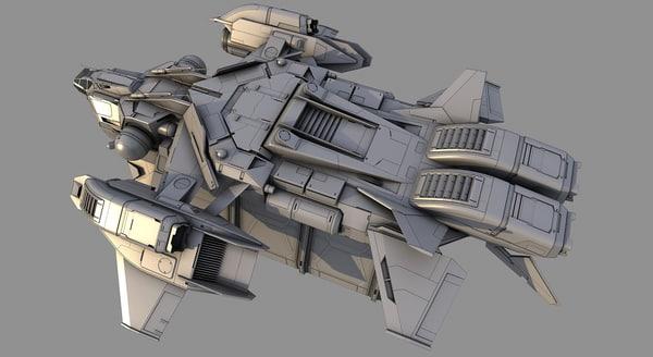 cargo_spaceship 3D Models