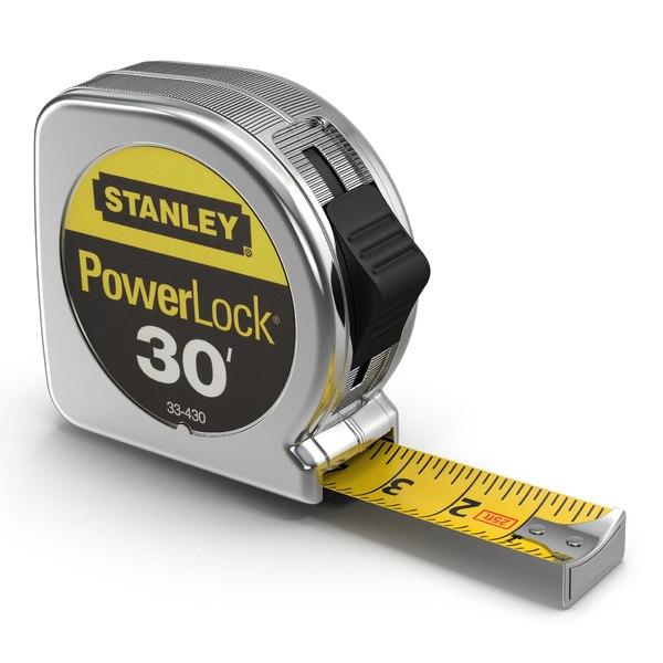 Tape Measure Stanley Powerlock 3D Models