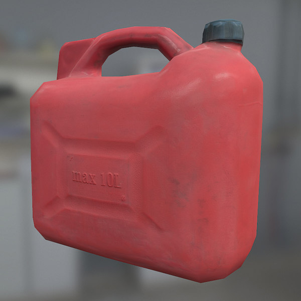 Game Ready Plastic Gasoline Canister