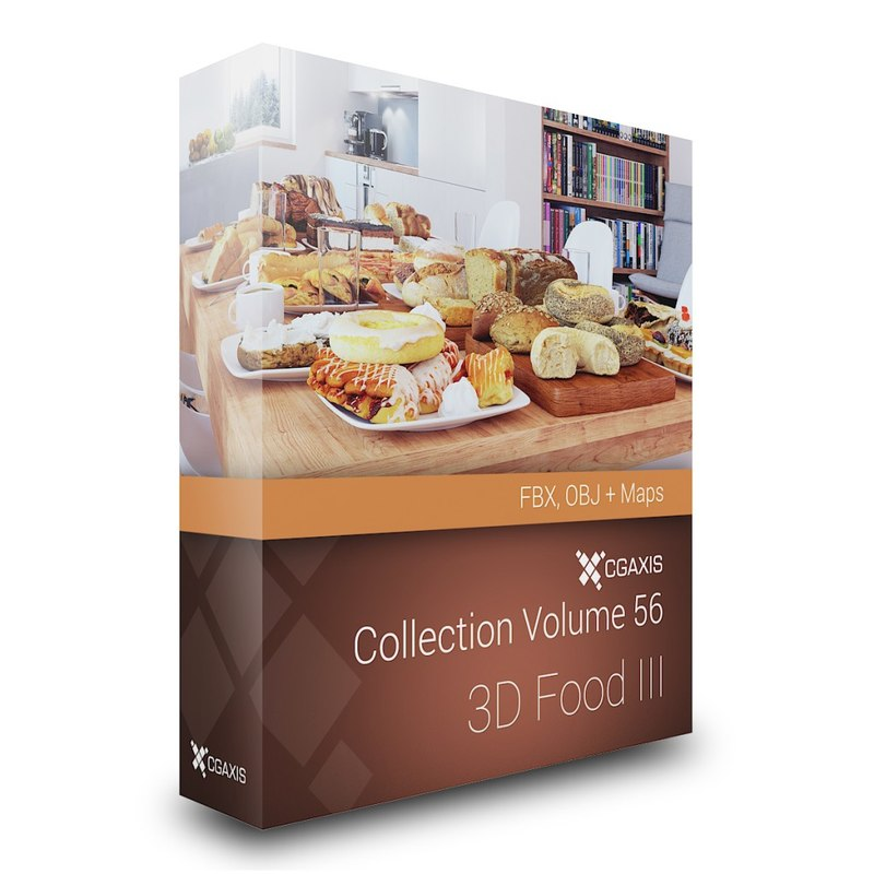 3D Food III - CGAxis Volume 56 FBX OBJ