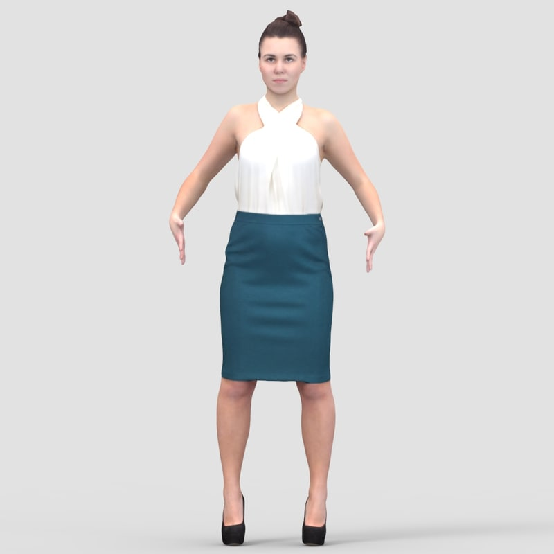 Rosa Business Ready-To-Rig T-Pose 2 - 3D Human Model