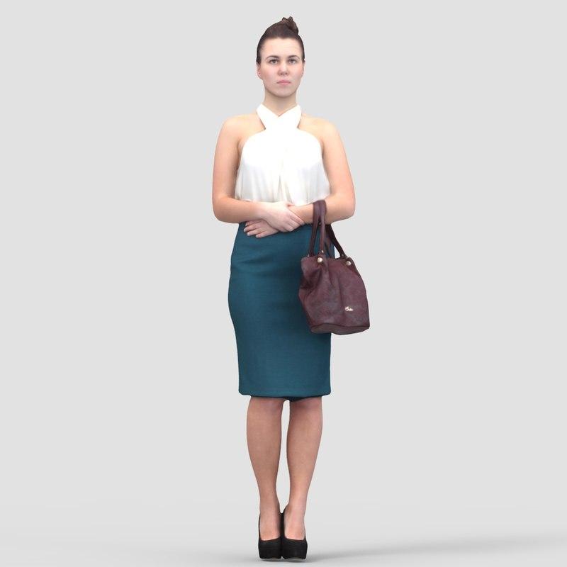 Rosa Business Standing 2 - 3D Human Model
