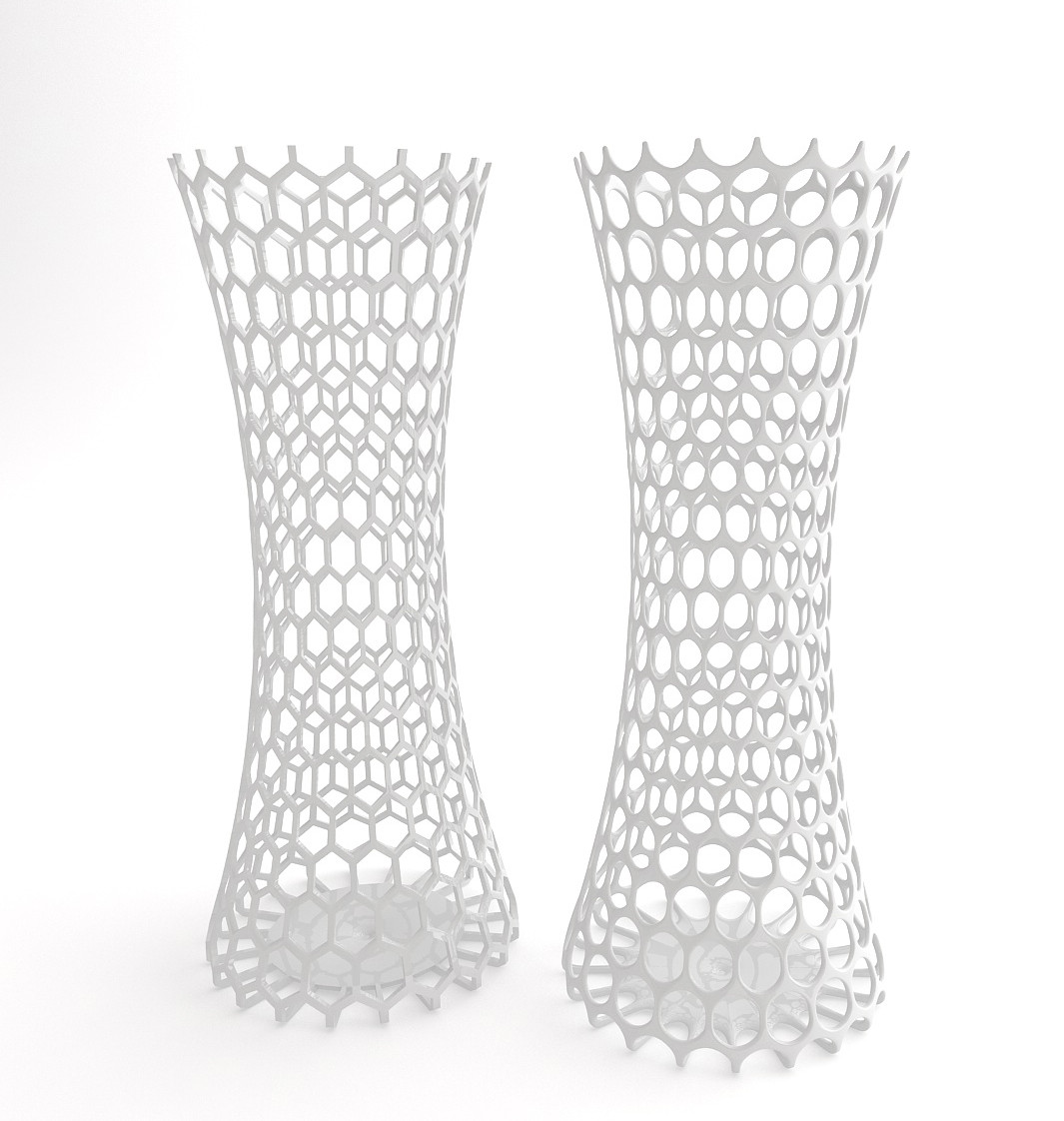 2 Vases with holes