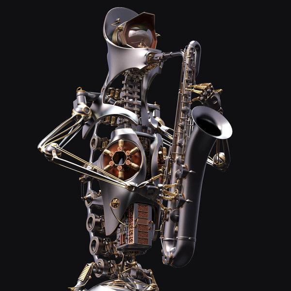 Robot-musician 3D Models