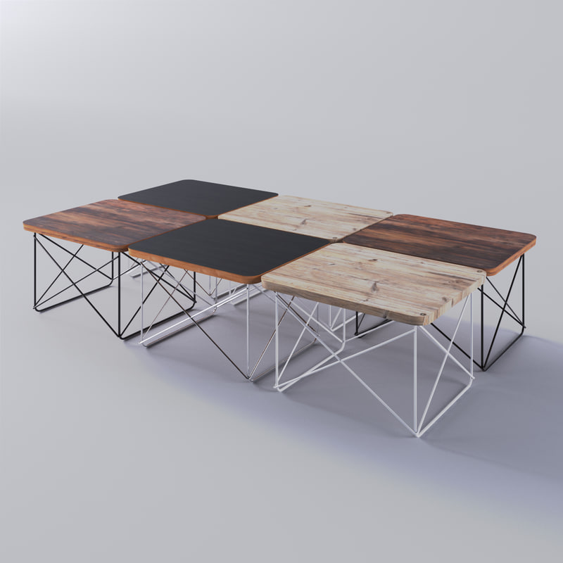 3d eames wire base table