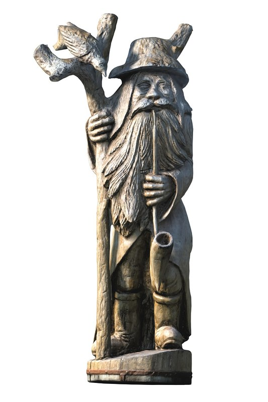 forester wooden sculpture