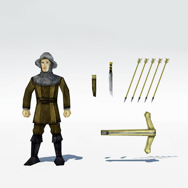 max medieval archer 2 bow arrows