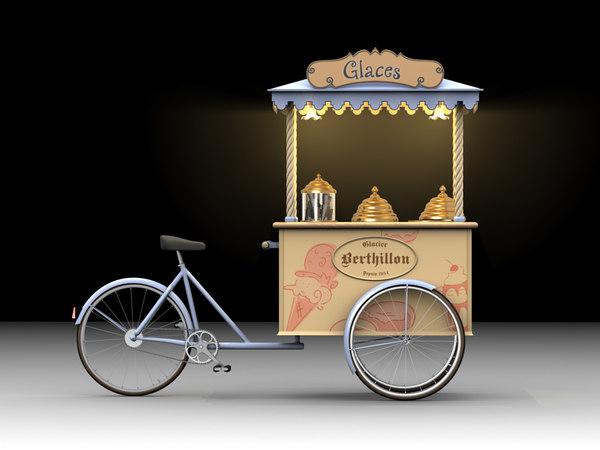Ice Cream Cart Bike [French] 3D Models
