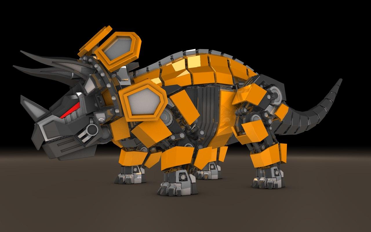 Triceratops robot