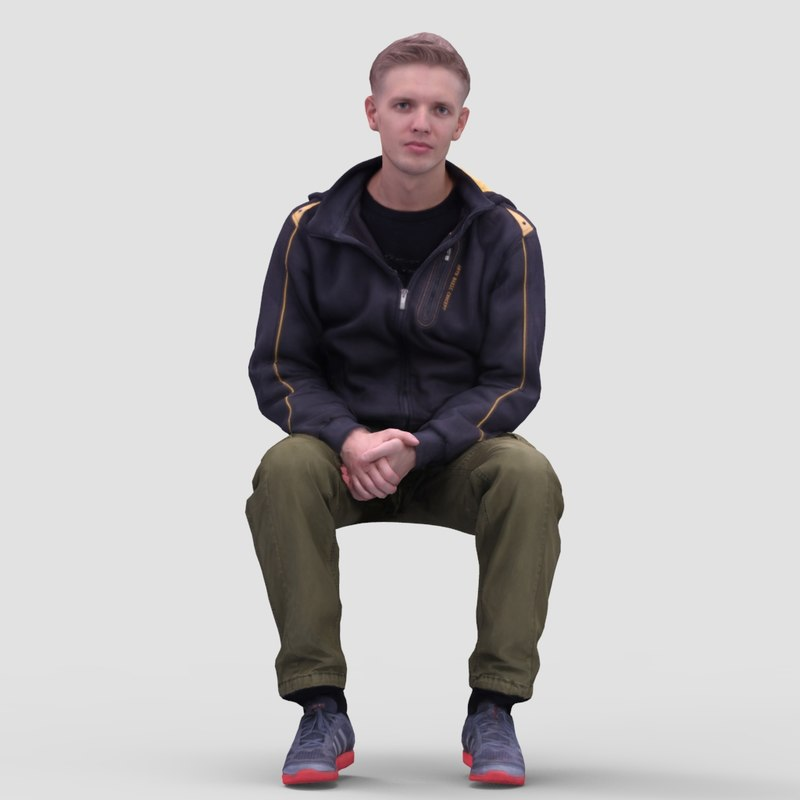 Nick Casual Sitting - 3D Human Model