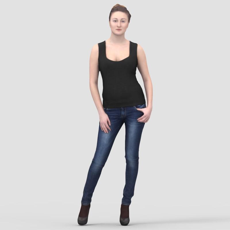 Maria Casual Standing 1 - 3D Human Model