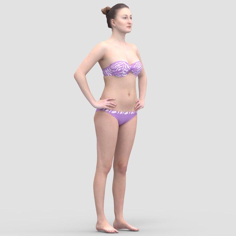 Maria Casual Standing 2 - 3D Human Model