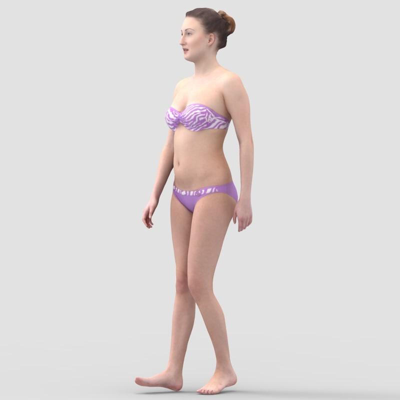 Maria Casual Walking - 3D Human Model