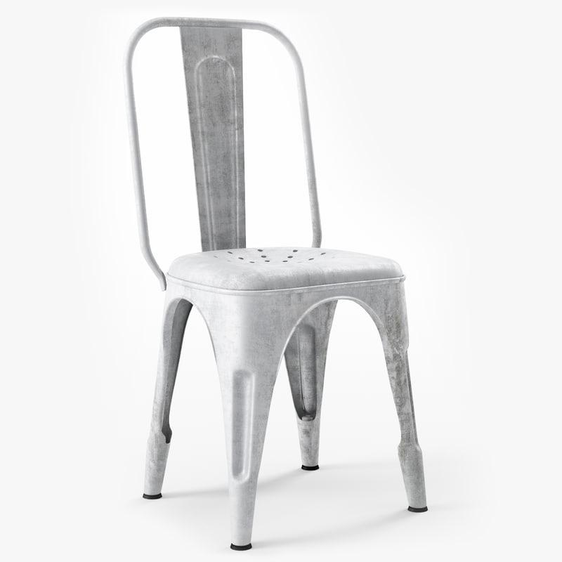 3d model chaise metal b r for Chaise quadriceps
