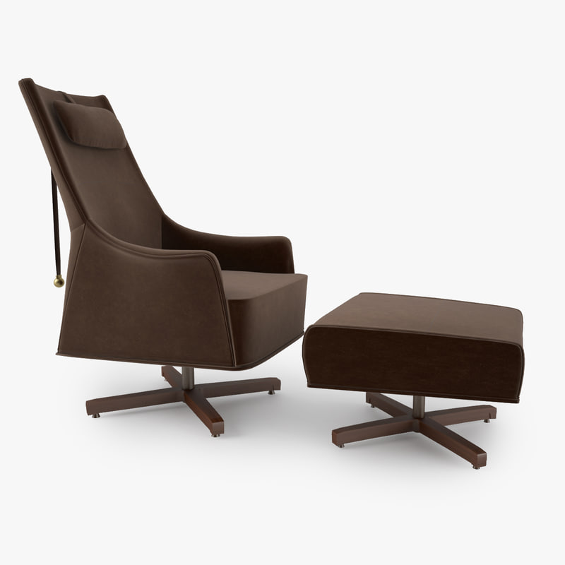 Giorgetti Mobius Swivel Wing Chair
