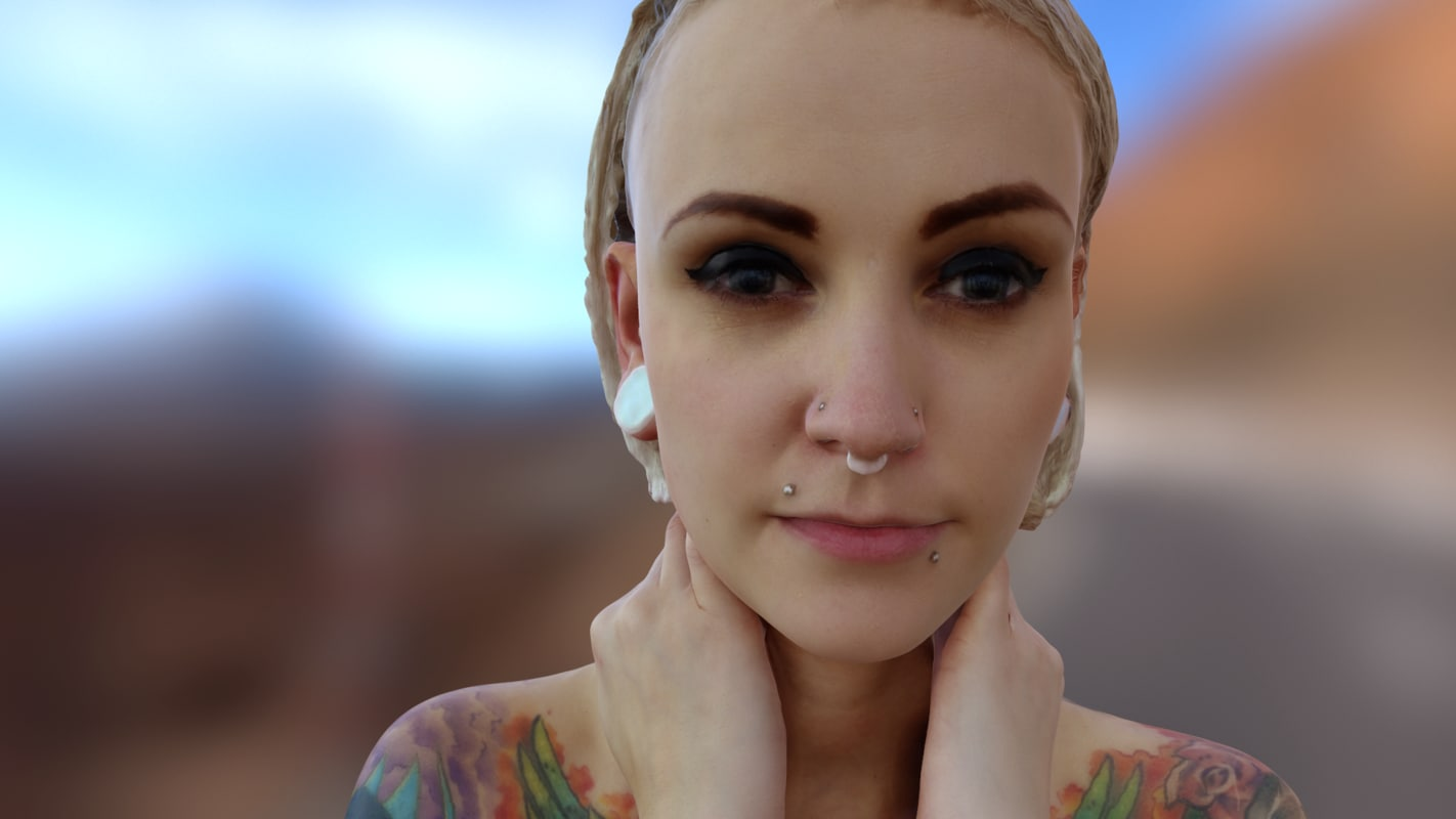 Carol - 3D scanned tatoo girl