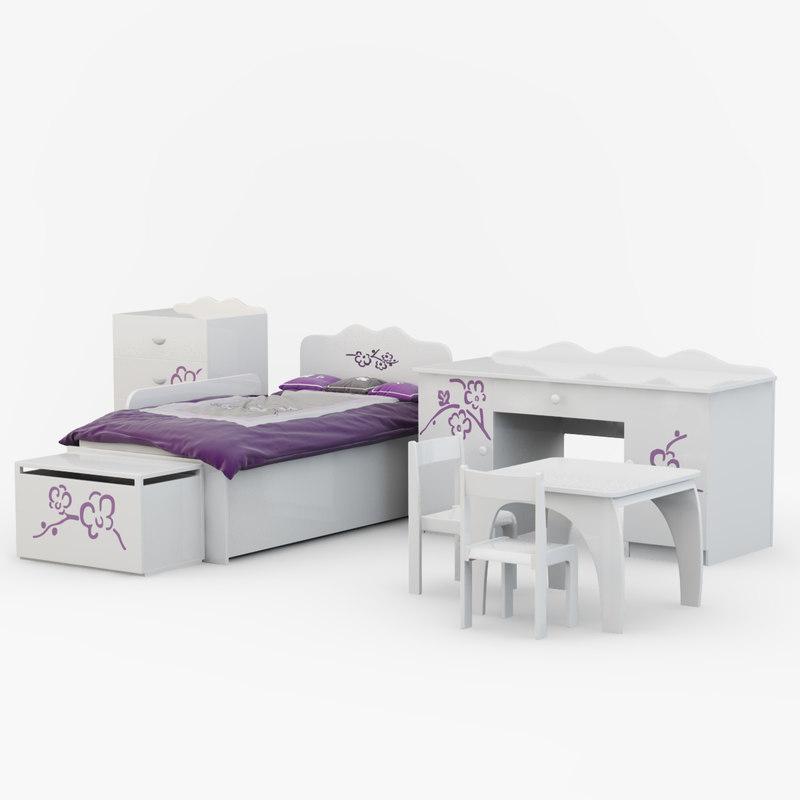 Children's furniture Orchid Violet