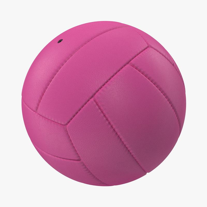 Volleyball Ball Pink 3d model 00.jpg
