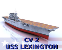 USS Lexington 3D models