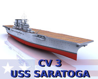 USS Saratoga 3D models