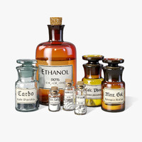 glass bottle 3D models