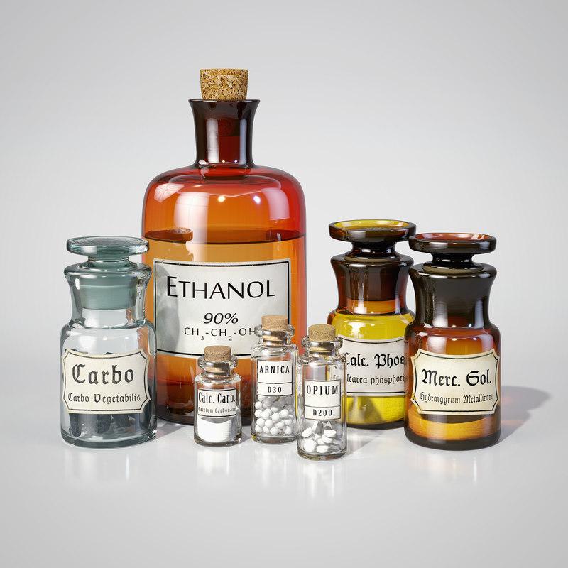 Vintage Pharmacy Bottles Type 2