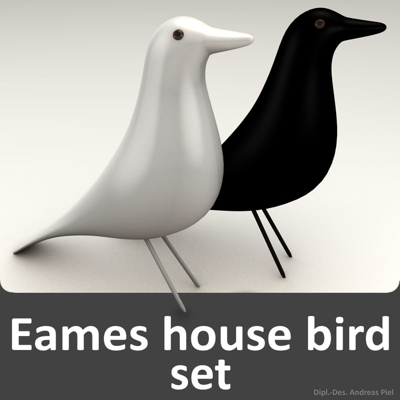 c4d set eames house bird. Black Bedroom Furniture Sets. Home Design Ideas