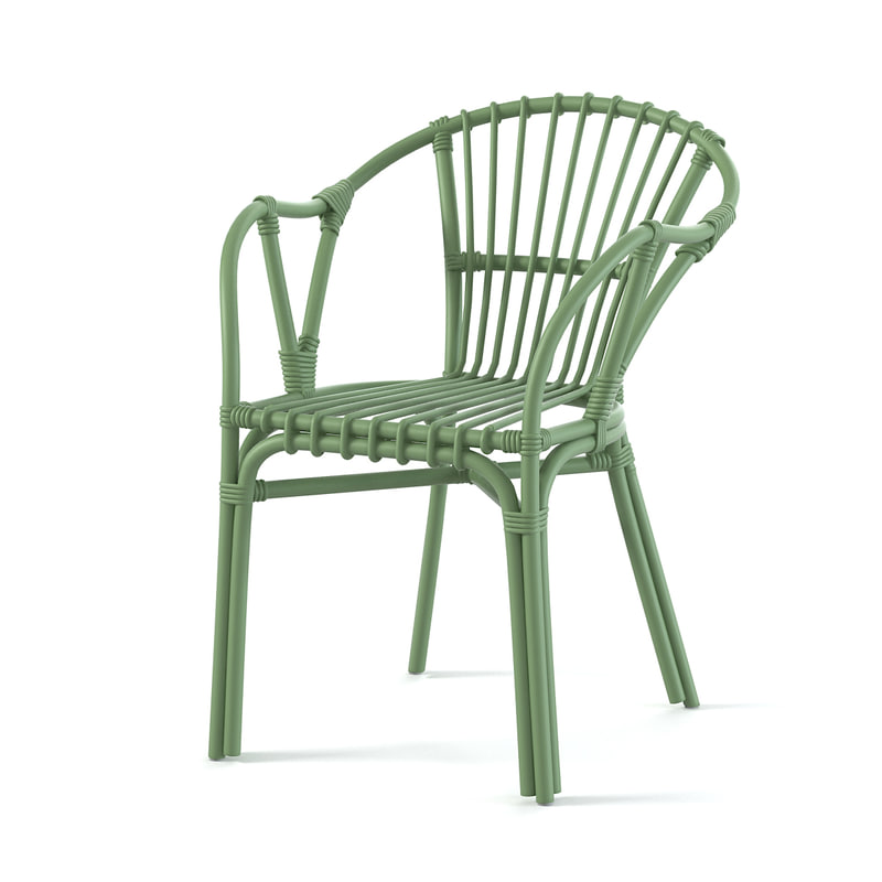 Ikea holmsel outdoor dining chair armchair wicker plasic modern